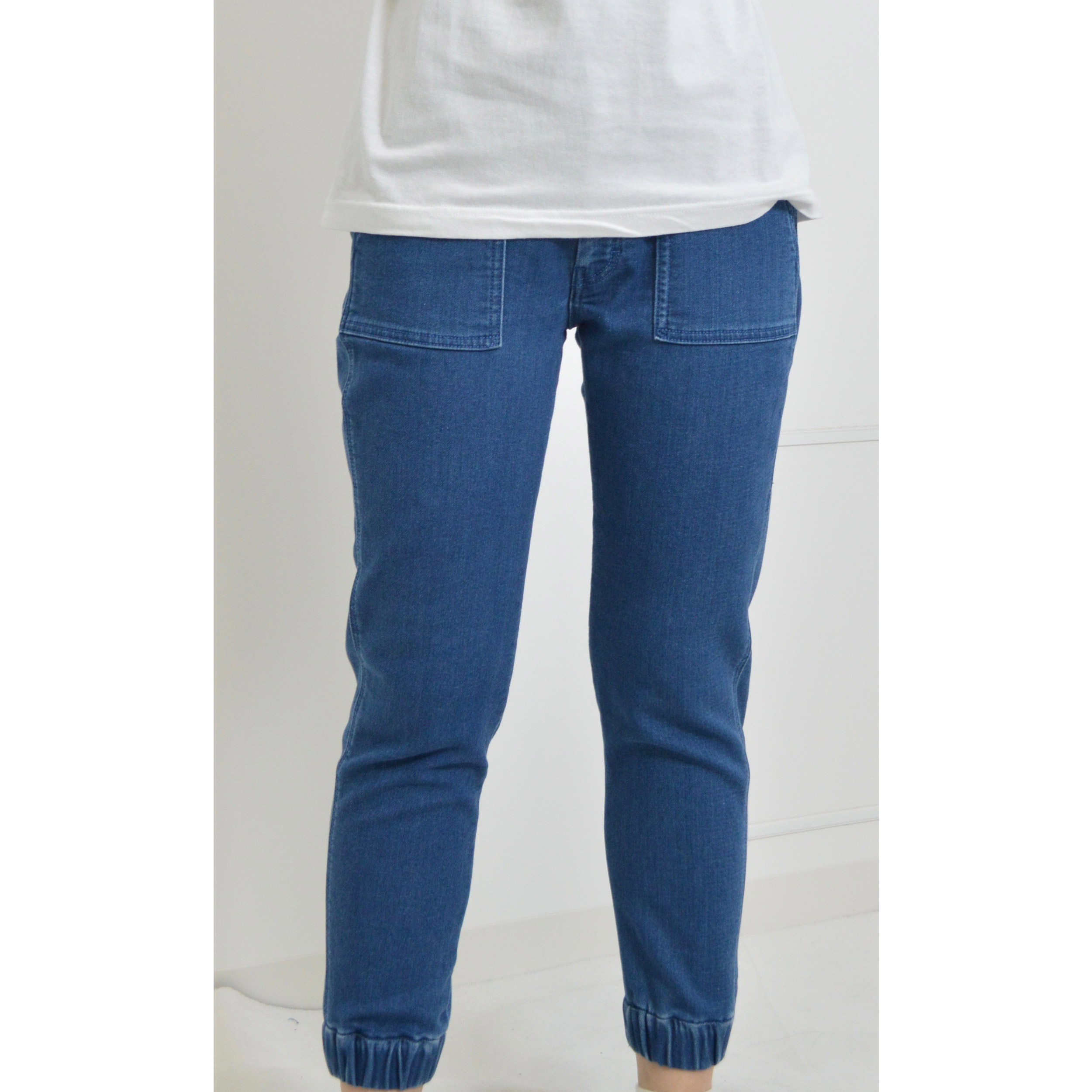 HINSON KNIT DENIM JOG HO (WOMAN)
