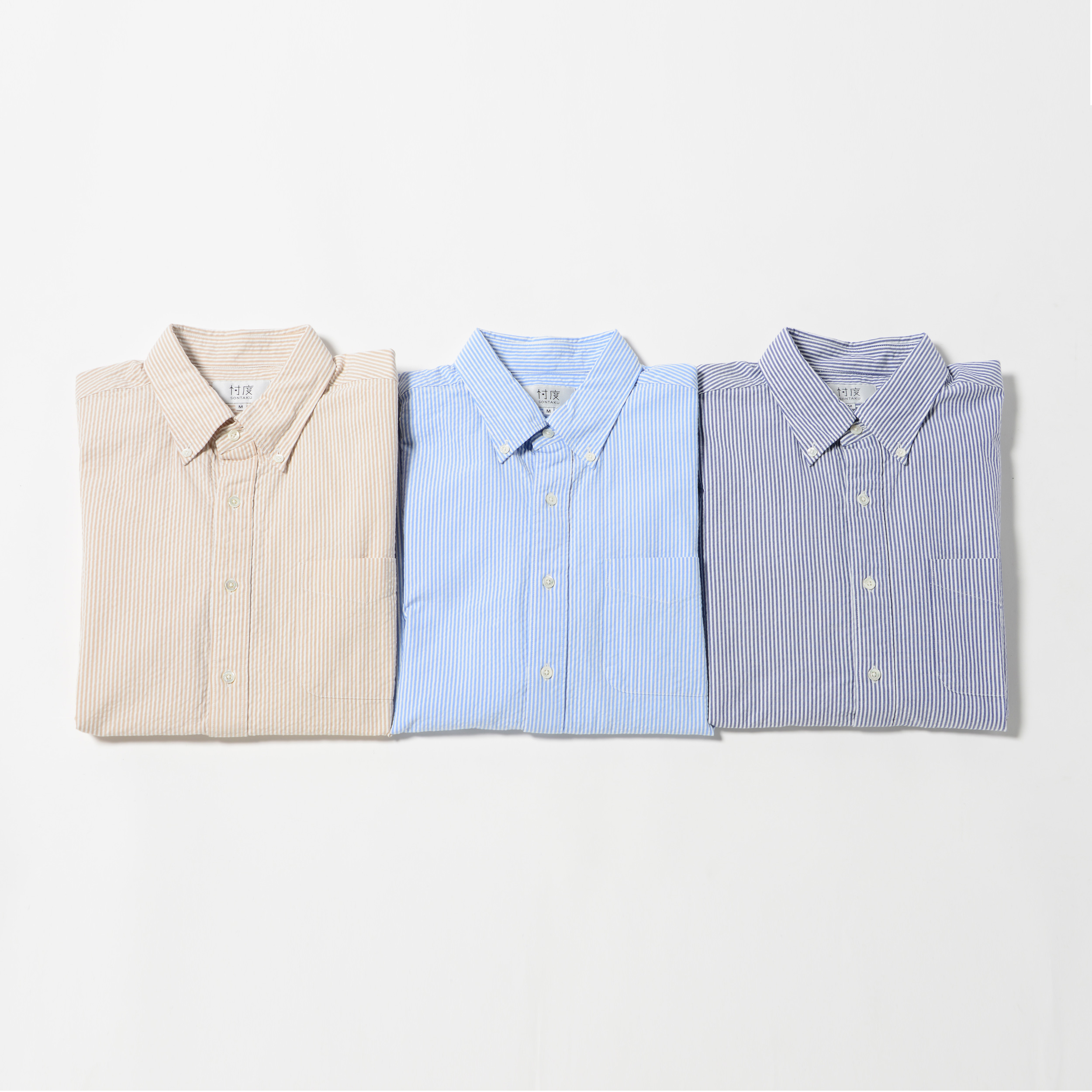【50%OFF商品】L/S SEERSUCKER STRIPE BD SHIRT