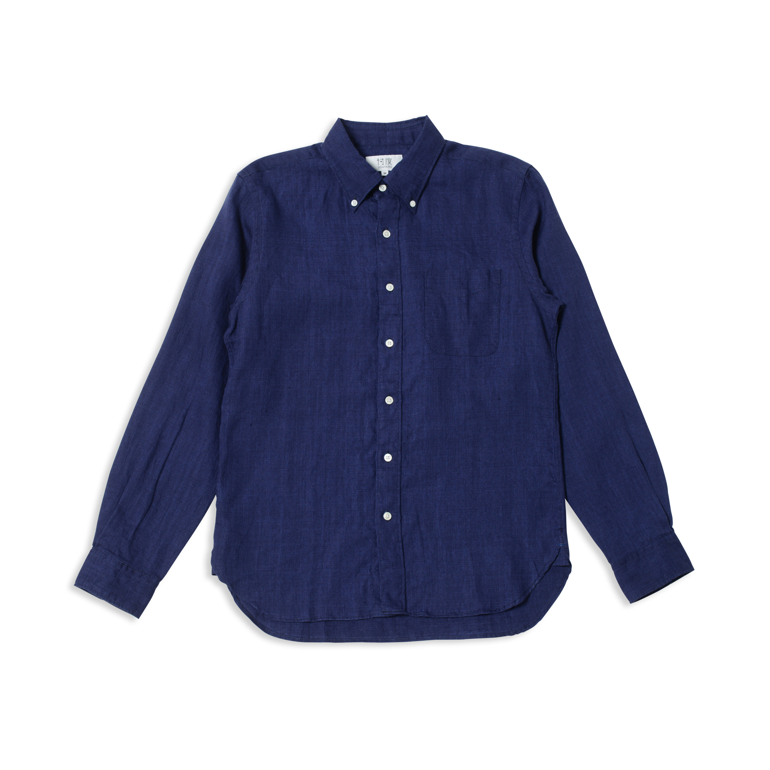 【40%OFF商品】L/S JAPAN LINEN DUSTY DYED BD SHIRT