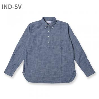 L/S SELVEDGE CHAMBRAY  PULLOVER  BD SHIRT