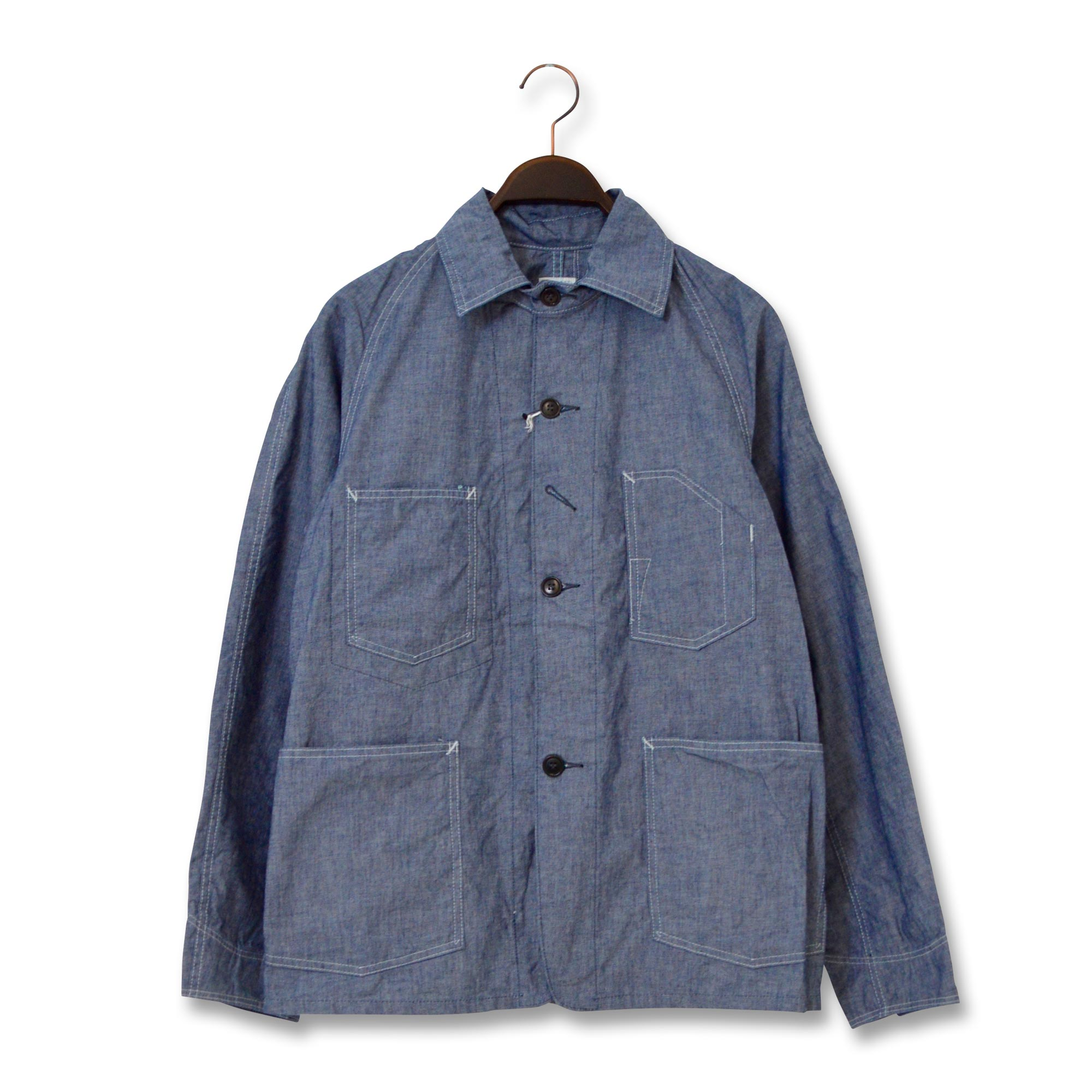 POST OVERALLS(ポストオーバーオールズ)/1102-XXR ENGINEER'S JACKET-XXR/CONE CHAMBRAY