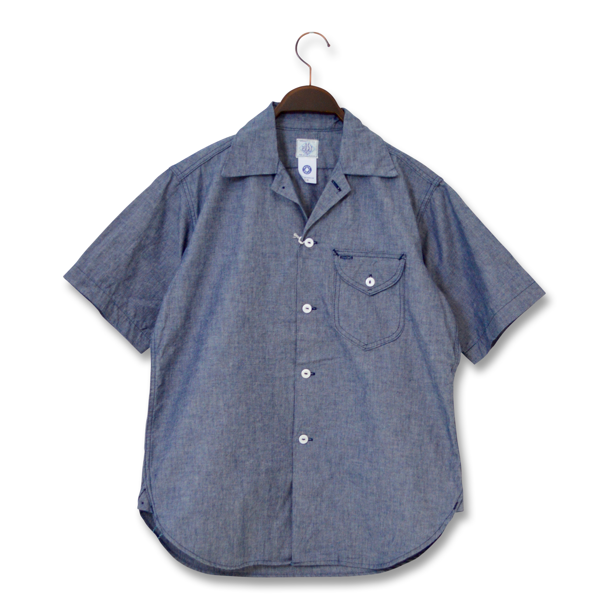 POST OVERALLS(ポストオーバーオールズ)/1269S E-Z CRUZ 5 S/S SHIRT/CONE CHAMBRAY
