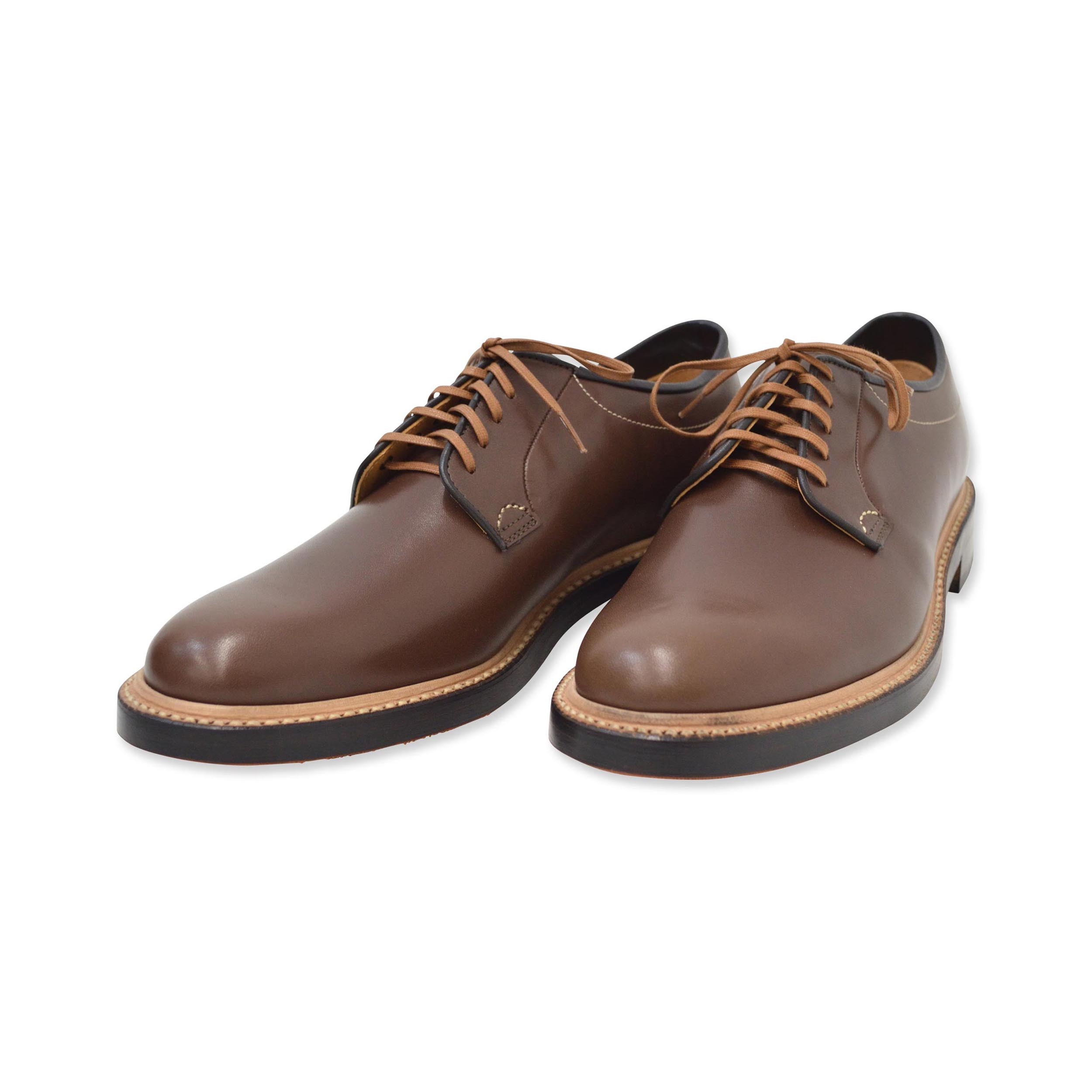 5 eye plain toe blucher oxford