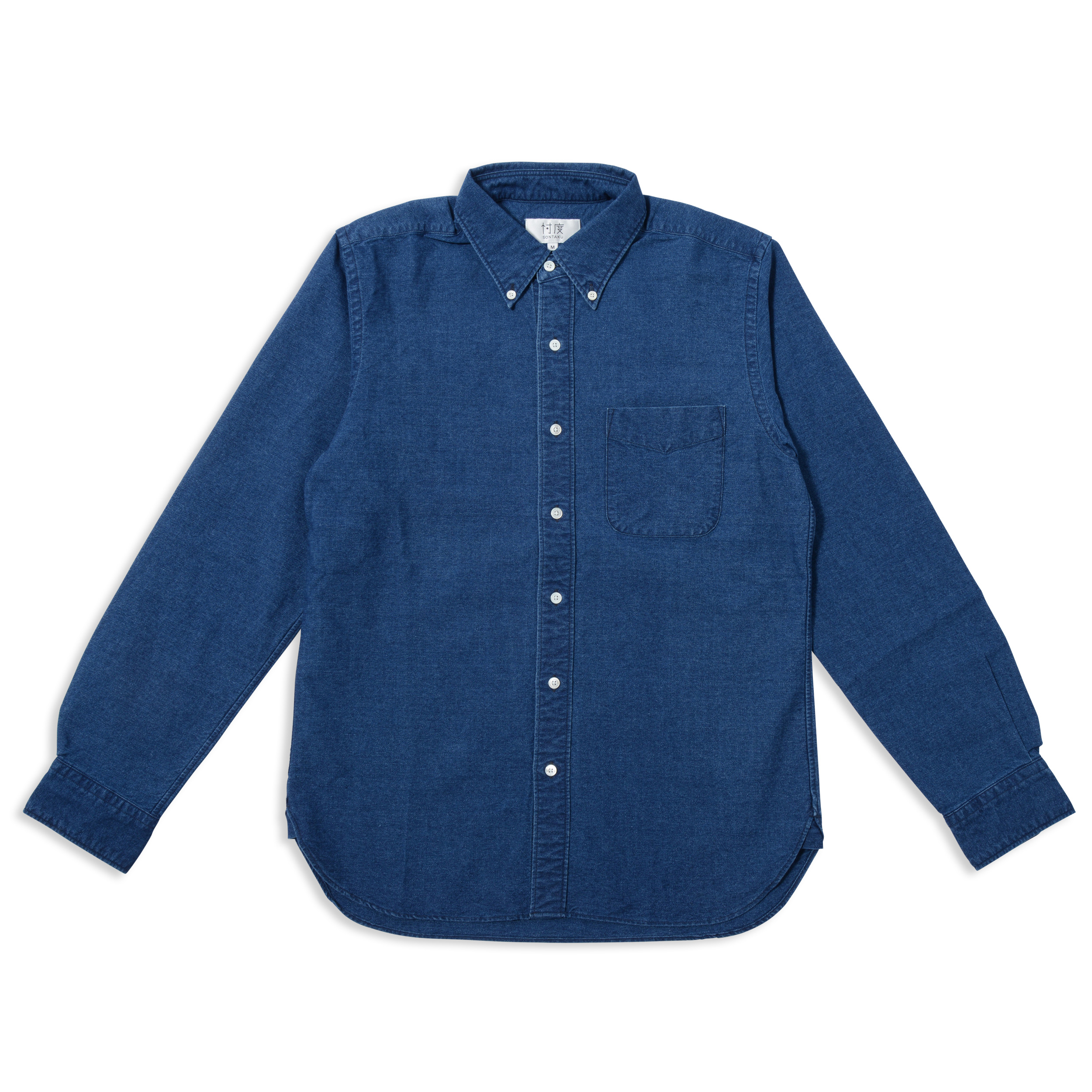 INDIGO OXFORD BD SHIRT(1703)