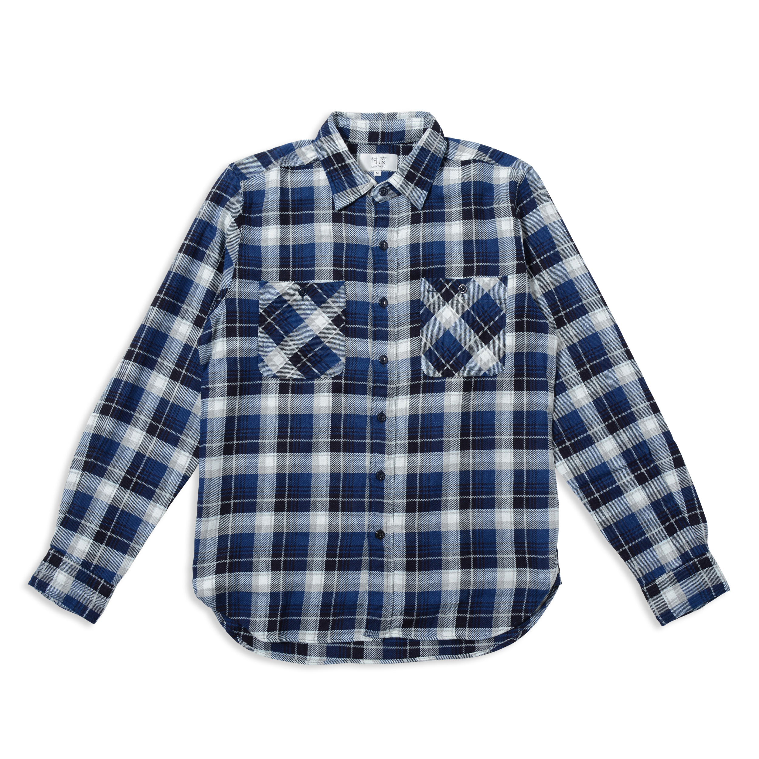 【40%OFF商品】HEAVY FLANNEL INDIGO WORK SHIRT(1703FN)