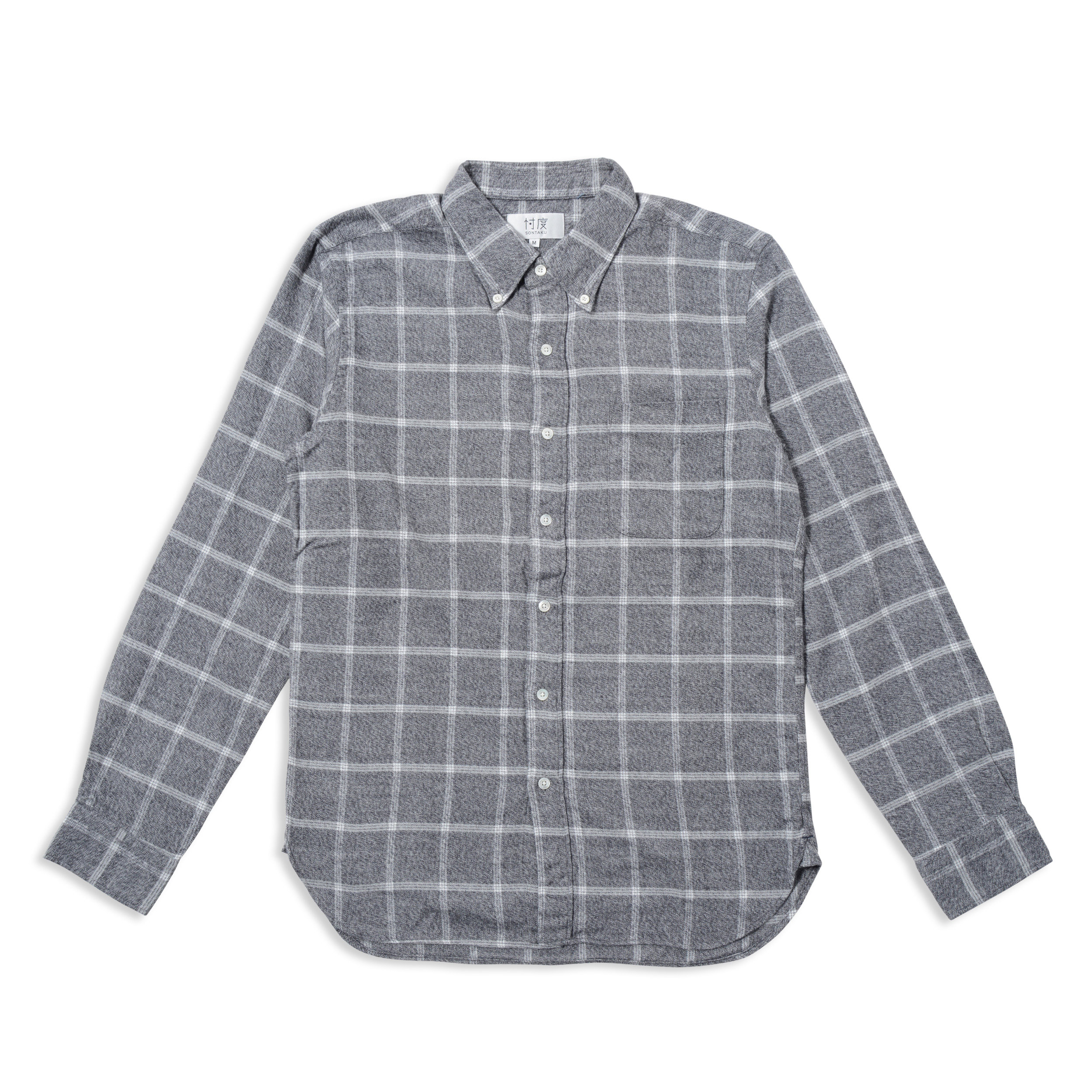 【35%OFF商品】SOFT TOUCH WINDOWPANE BD SHIRT(1703FN)