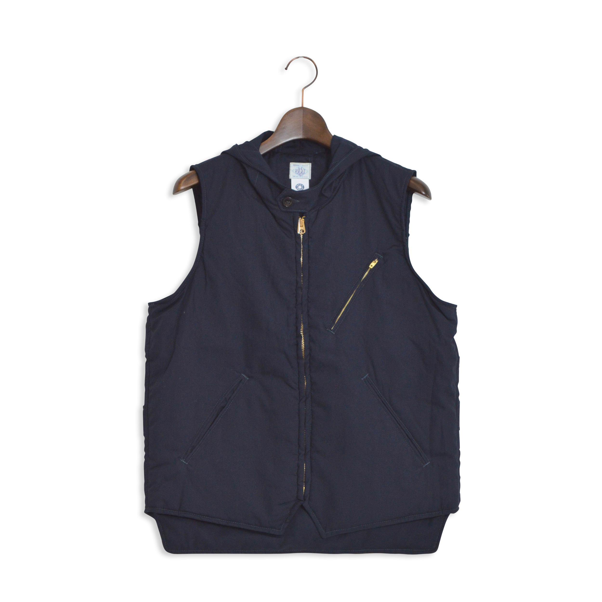 【35%OFF商品】【POST O'ALLS】POST OVERALLS(ポストオーバーオールズ)/1522h E-Z CRUZ VEST HOOD/COTTON BROADCLOTH (1703)