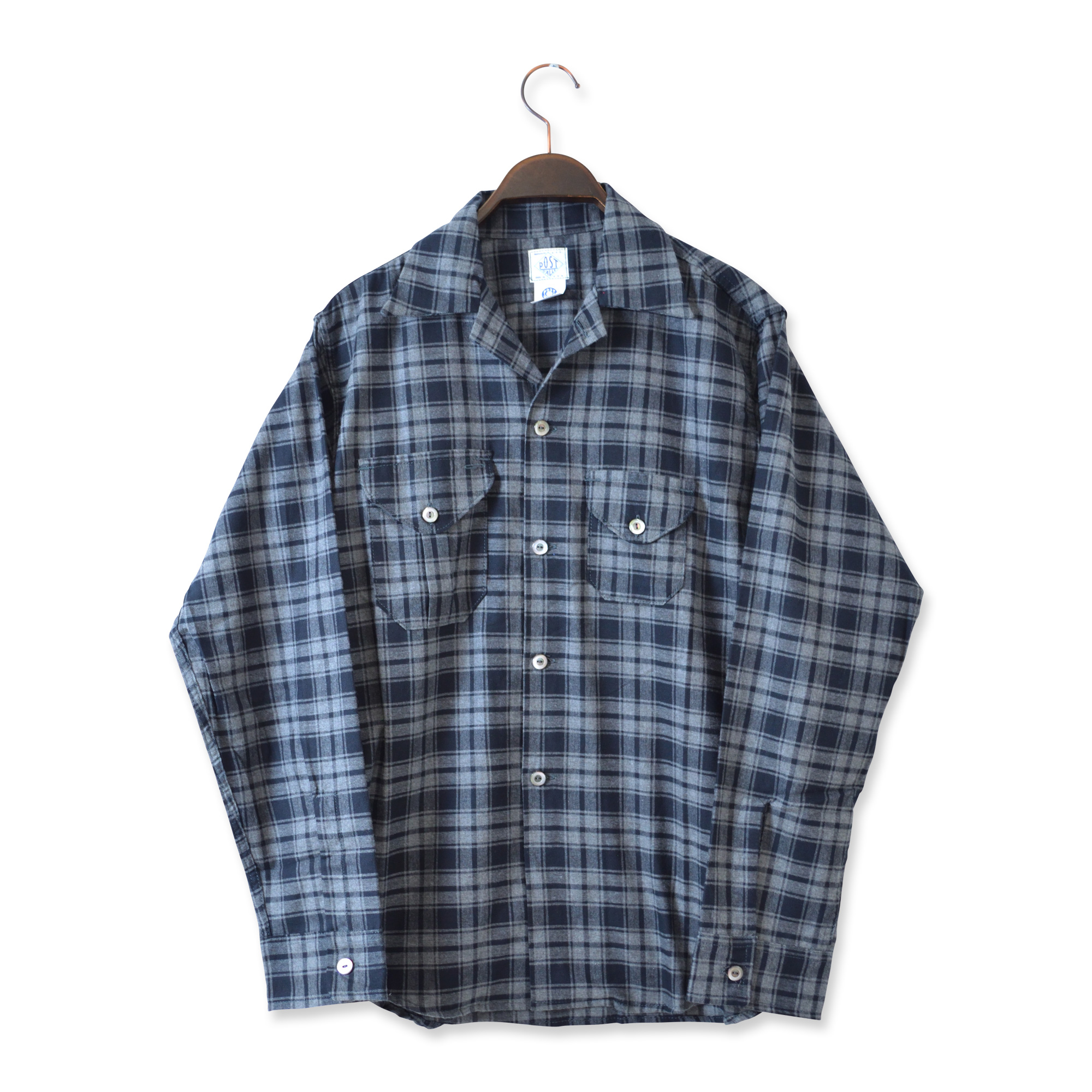 POST OVERALLS(ポストオーバーオールズ)/2214-FP1 E-Z CRUZ SHIRT PLAID FLANNEL