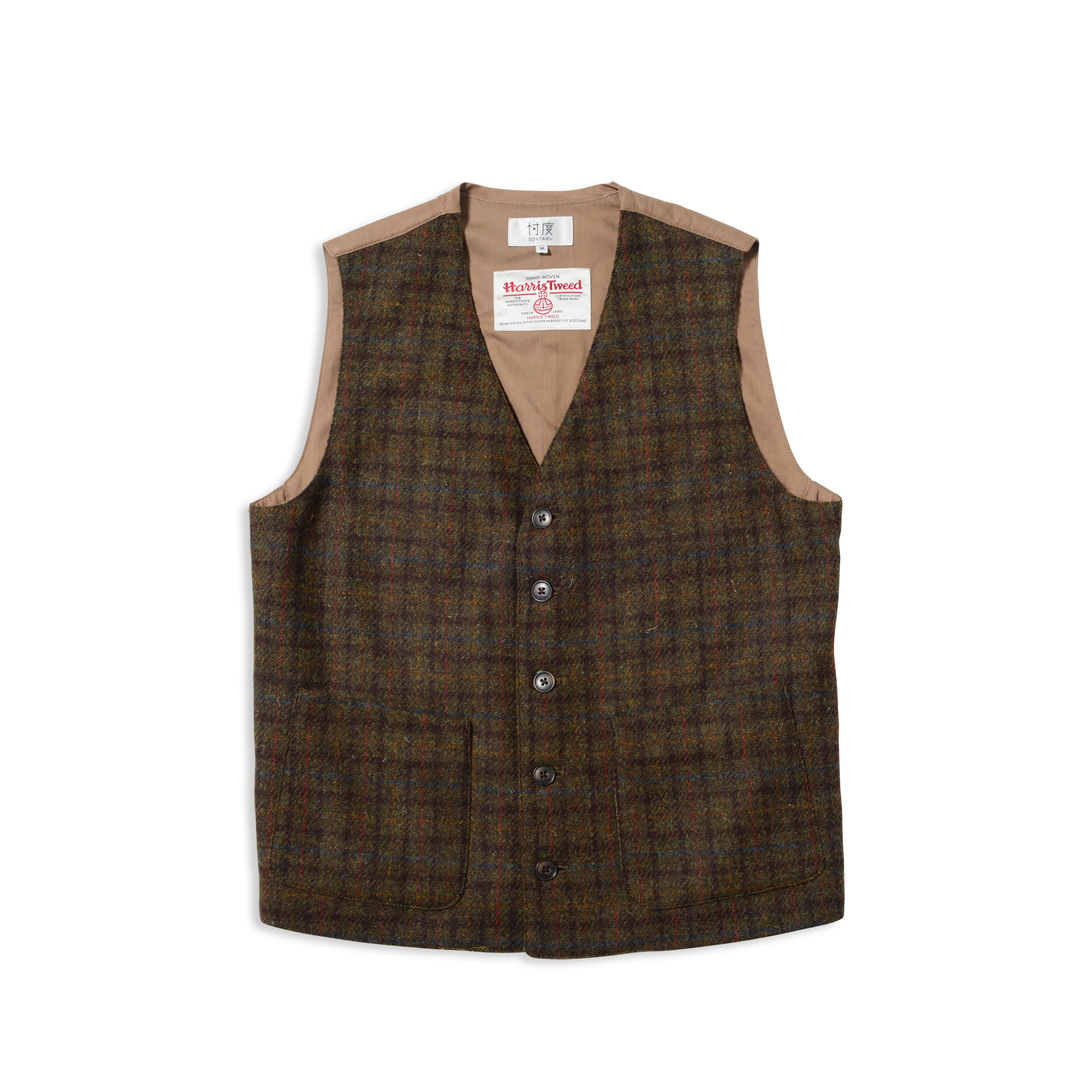 【50%OFF商品】Harris Tweed×SONTAKU VEST(1703)